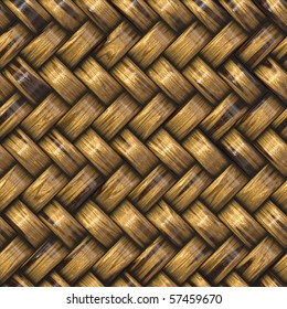 heavy brown weave of brown wicker rings. seamless tile for larger application