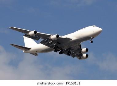 Heavy cargo jet in white color