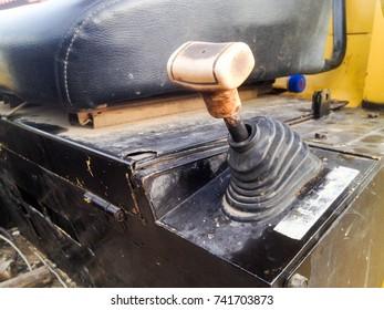 heavy construction equipment controls gear