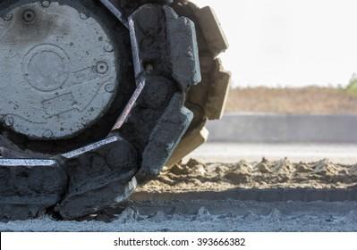 schwere Baumaschine - Planiermaschine