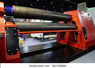 Heavy duty metal plate / sheet rolling machine. Industrial metalwork