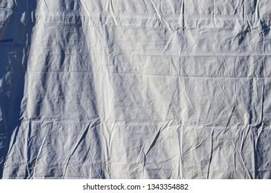 Heavy Duty Vinyl Canvas Cloth Tarp Hanging with Wrinkles