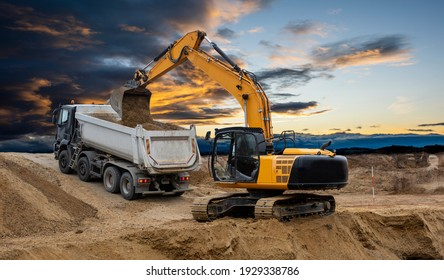 heavy earth mover on construction site