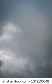 Heavy grey clouds in the sky before the rain.
