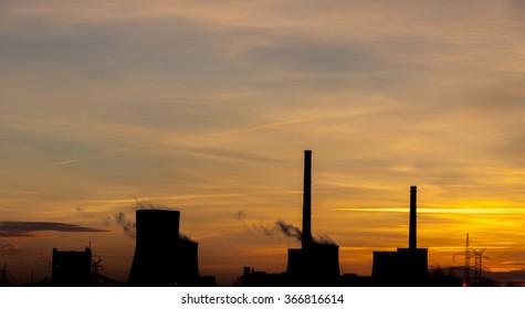 Heavy industrail - sunrise time.