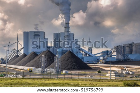 Heavy industrial coal powered