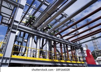 Heavy industry factory pipelines