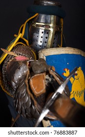 Heavy knight is slashing