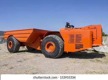 Heavy mining dump truck