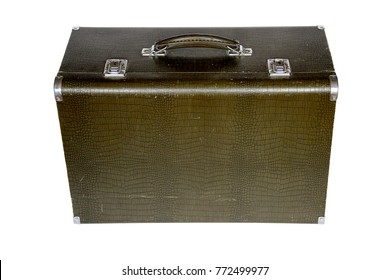 heavy old suitcase