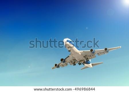 Heavy Passenger Cargo Jet Plane Landing Stock Photo Edit Now