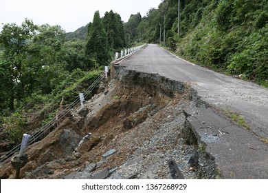 Heavy rain caused Landslide in Japan.