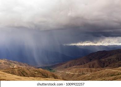 Heavy rainfall in the Himalayas, Tibet