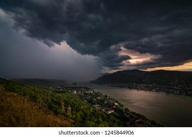 Heavy storm in Visegrád,Hungary