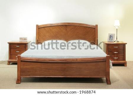 Heavy Wood Queensize Bed Set Headboard Stock Photo Edit Now