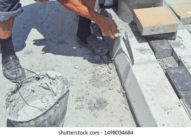 Heavy work for a construction worker on the site.