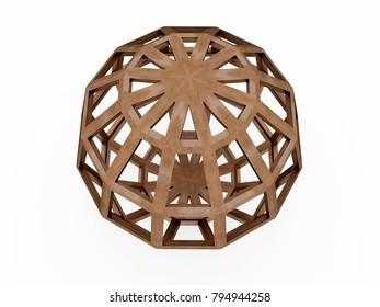 Hebdomecontadilfaedron, Leonardo da Vinci. 3D model.