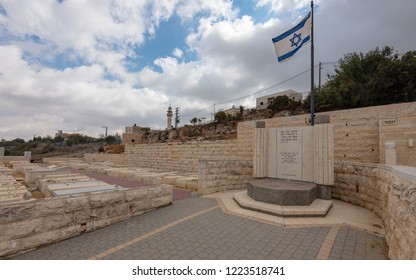 Hebron, Israel - 11 November 2018: The Hebron Jewish Cemetery Memorial