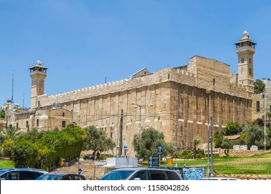 HEBRON, ISRAEL - JULY 13, 2018: Cave of the Patriarchs or Cave of Machpelah, Sanctuary of Abraham, double tombs of Abraham and Sarah in Hebron, Israel