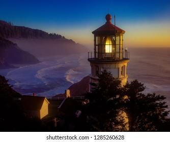 Heceta Head Lighthouse opn the Oregon coast a few miles north of Florence.