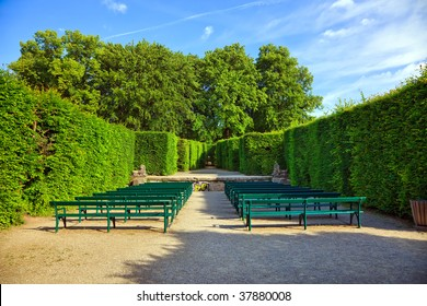 The Hedge Theater in Mirabell Gardens, Salzburg, Austria
