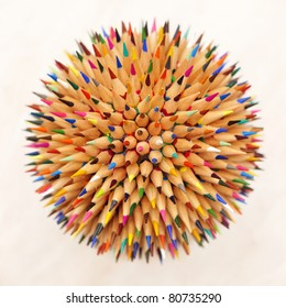 hedgehog out of pencils
