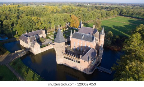 The Heeswijk Castle in the Netherlands seen from above