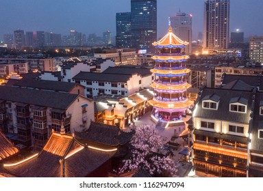 Hefei Chenghuang Temple Huisi Building Night Scene