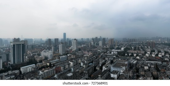 Hefei, China - September 2017 - Hefei city scape, cities are bigger and bigger in China.
