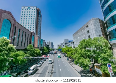 Hefei City, Anhui Province, Changjiang Road, high-rise building landscape
