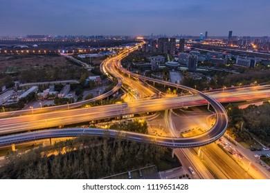 Hefei City, Anhui Province Overpass Building Landscape