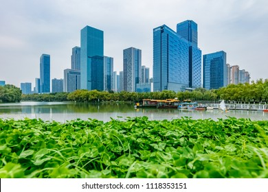 Hefei City, Anhui Province Swan Lake Financial Business Center Building Landscape