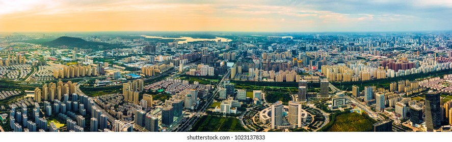 Hefei city panorama