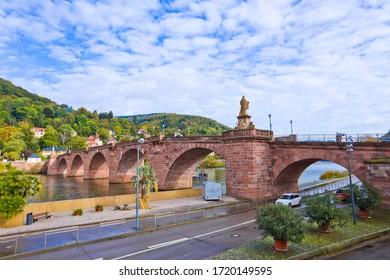 Heidelberg with the Alte Brucke bridge in autumn, Germany.