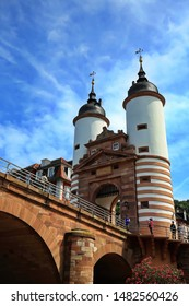 Heidelberg Baden-Wuerttemberg/ Germany - 07 09 2019: Heidelberg is a city Germany, with many historical a ttractions here , Alte Brücke