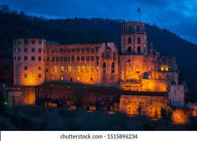 Heidelberg castle in germany, old town of Heidelberg