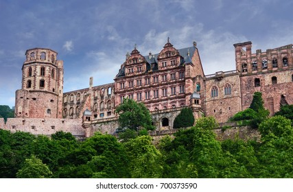 Heidelberg castle on top of Konigstuhl Hill in southwestern Germany.