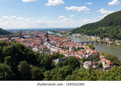 Heidelberg city in Germany at sunny summer day