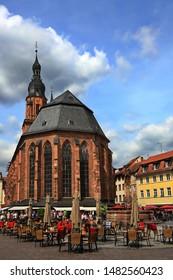 Heidelberg is a city on the Neckar in Germany, Heiliggeistkirche