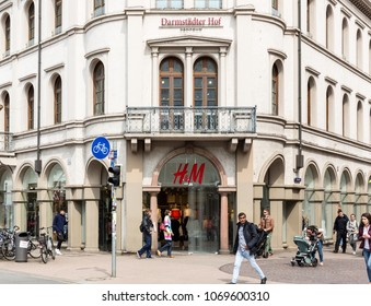 Heidelberg, Germany - April 10 2018: A H&M fashion outlet