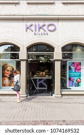 Heidelberg, Germany - April 10 2018: A KIKO outlet. Founded in 1997 by Antonio Percassi, KIKO Milano is an Italian brand of cosmetics, make-up and skin care products.