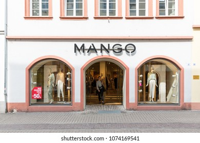 Heidelberg, Germany - April 10 2018: A MANGO fashion store. Mango is a Spanish company which designs and manufactures clothes.