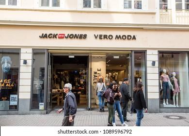 Heidelberg, Germany - April 10 2018: A Jack Jones and Vero Moda Store