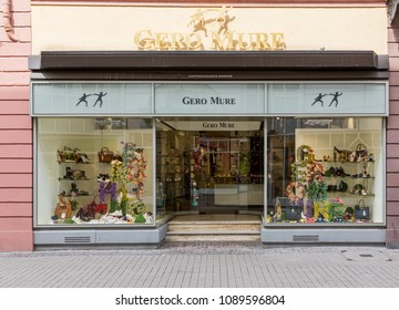 Heidelberg, Germany - April 10 2018: A Gero Mure shoe and fashion accessories store