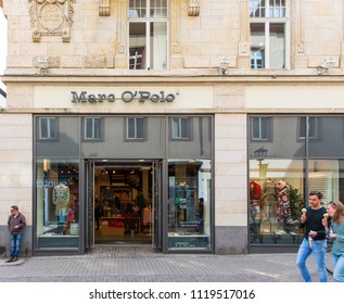 Heidelberg, Germany - April 10 2018: A Marc O'Polo outlet. It is a Swedish German fashion brand.