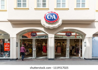 Heidelberg, Germany - April 10 2018: A branch of C&A. It is a family managed fashion company dedicated to the creation of affordable ready to wear clothing for everyday people.