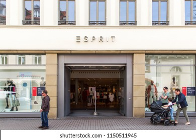 Heidelberg, Germany - April 10 2018: An Esprit fashion store. Esprit has a presence in 40 countries with 761 directly managed retail stores and over 6,332 wholesale points of sale.