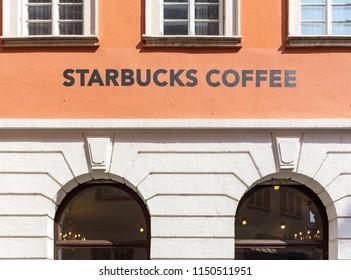 Heidelberg, Germany - April 10 2018: A Starbucks Coffee store.