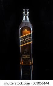 HEIDELBERG, GERMANY August 4 2015: : johnnie walker bottle isolated