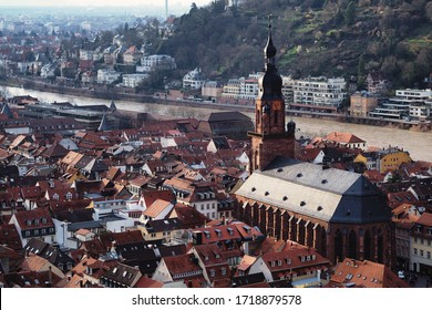 Heidelberg in Germany city view on cathedral